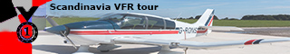 For completing the Tour: Scandinavian VFR tour.